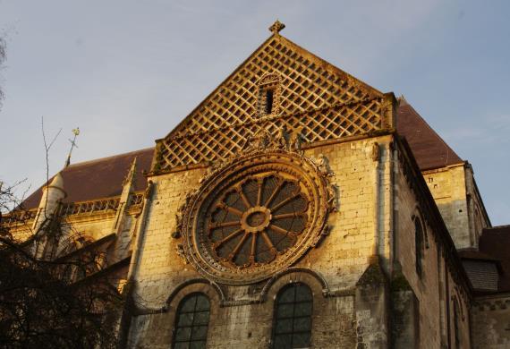 Transept Nord : la Roue de la fortune