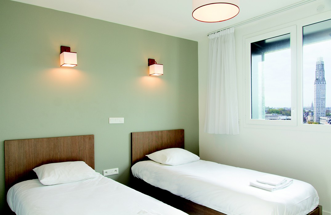 Appart City_chambre twin_Amiens_Somme_Picardie