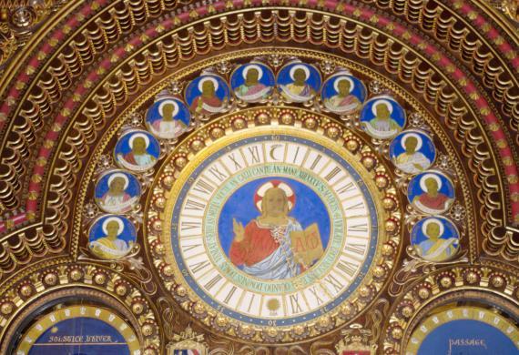 Le grand cadran de l'horloge astronomique d'A-L. Vérité